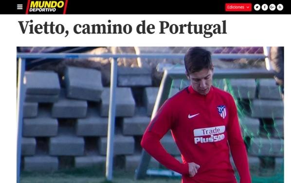El argentino Vietto estaría cerca de salir del Atlético Madrid