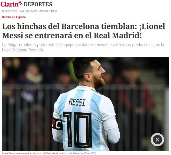 El Real Madrid 'invita' a Messi a su casa