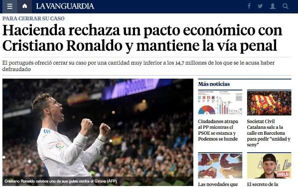 Cristiano Ronaldo desafía: