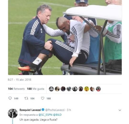 Vidal podría perderse la serie con el Real Madrid