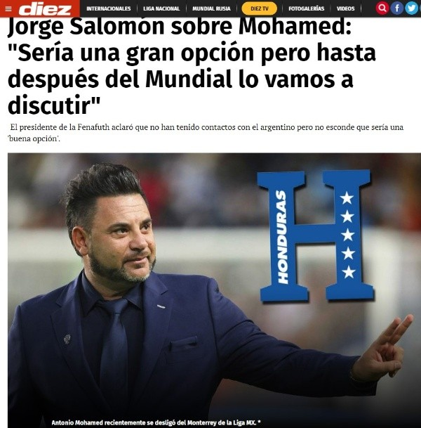 Al Turco Mohamed le ofrecieron la Selección de Honduras
