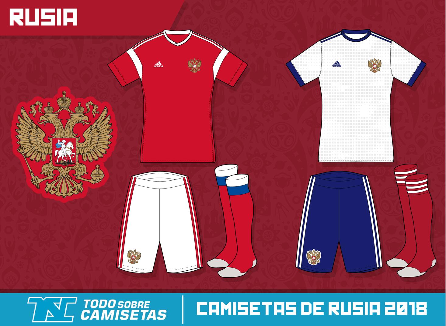 a674783dc6723 Los 32  todos los uniformes que estarán en el Mundial de Rusia 2018 ...