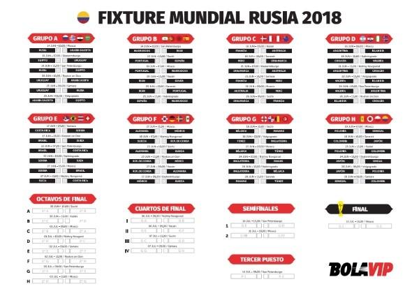 Calendario Mundial Rusia 2018.Calendario Completo Del Mundial Rusia 2018 Para Imprimir Y