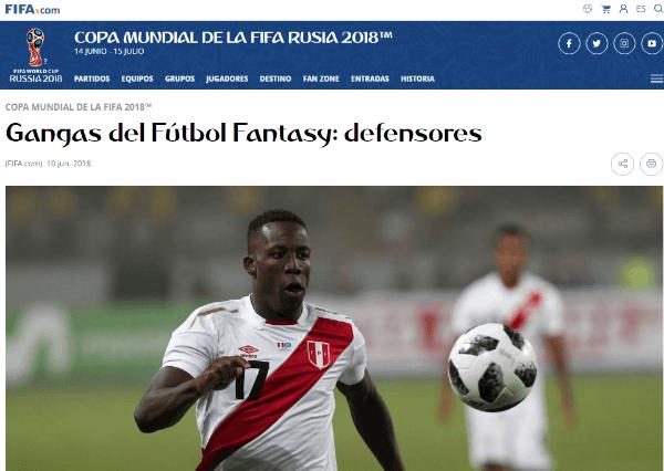 FIFA considera a Luis Advíncula entre los defensores más veloces del mundo