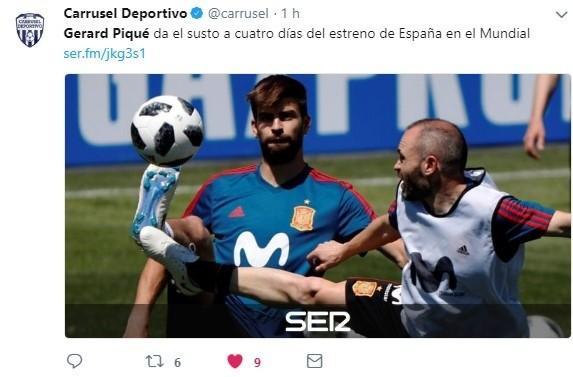 Asusta a toda España: crack se retiró de entrenamiento con molestias a poco de duelo con Portugal