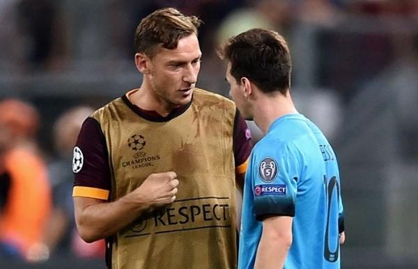 Totti y Messi, frente a frente.