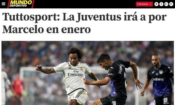 Real Madrid y Juventus planean intercambio Marcelo-Sandro