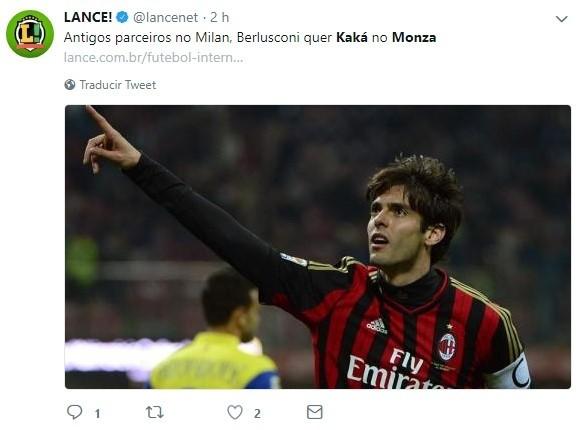Kaká podría volver al fútbol para jugar en el Monza