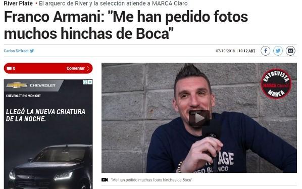 Franco Armani terminó lesionado y se perderá la gira con la Selección