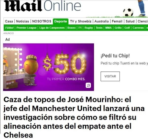 El ayudante de Sarri será sancionado, Mourinho no