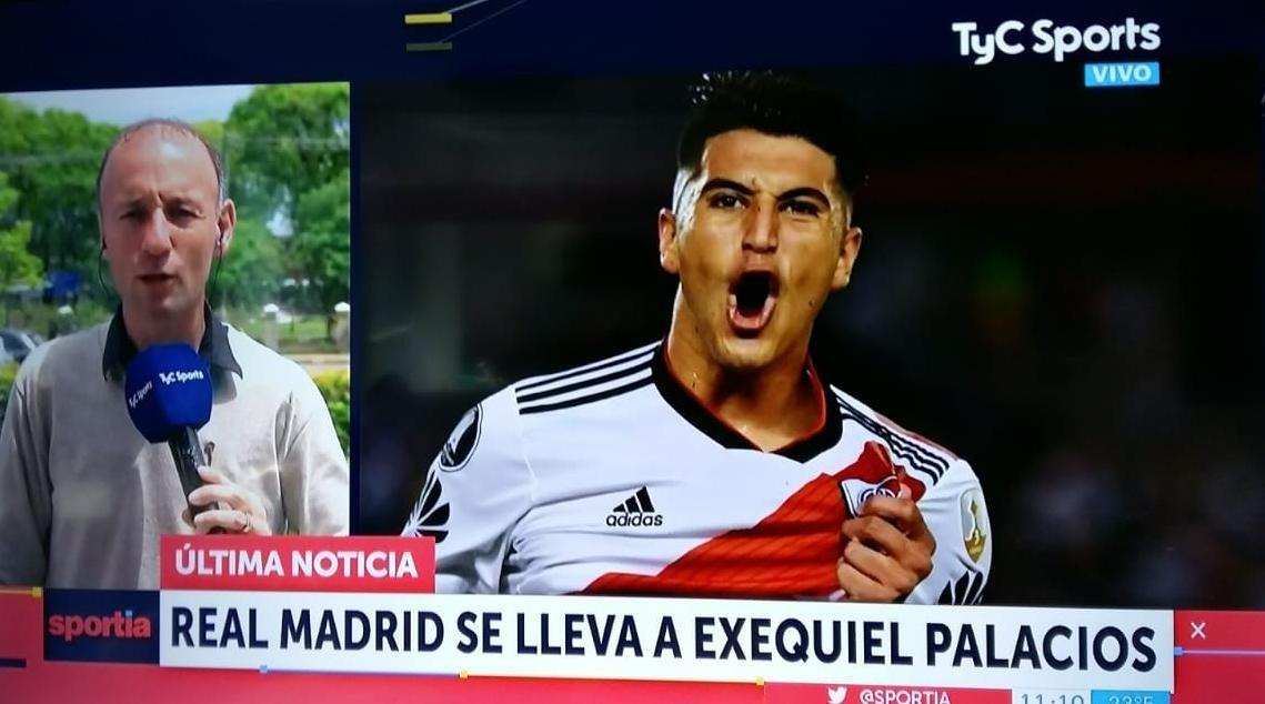 Real Madrid pagaría 30 millones a River Plate por Exequiel Palacios