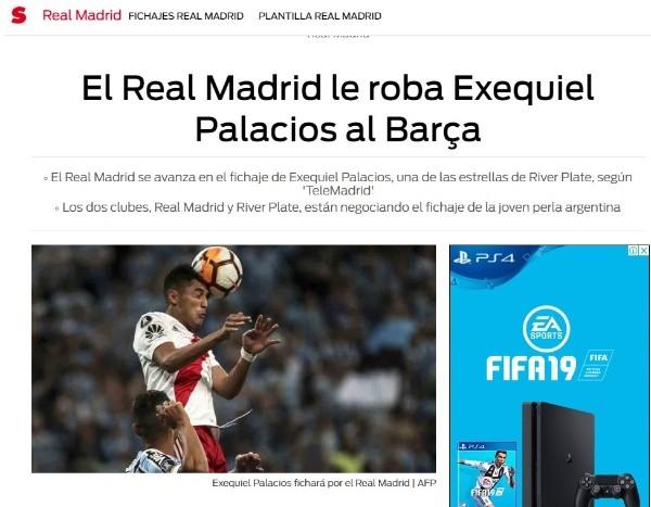Telemadrid: el Madrid cierra el fichaje de Exequiel Palacios