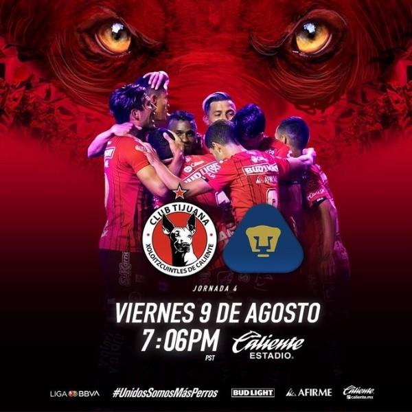 Xolos de Tijuana vs. Pumas UNAM por la Liga MX: día, horario ...