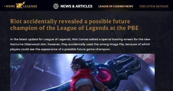 Qué fue eso Riot?! Revelaron un nuevo campeón de League of