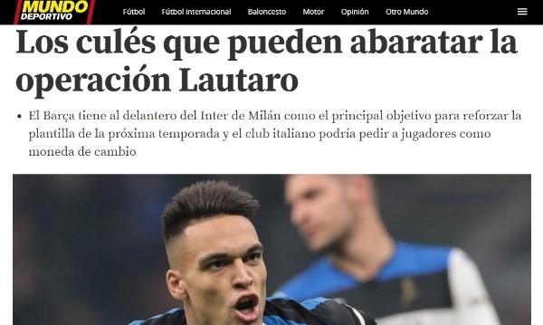 La información de 'Mundo Deportivo'.