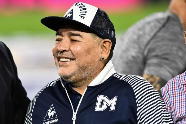 Diego Maradona, actual entrenador de Gimnasia. (Foto: Getty)
