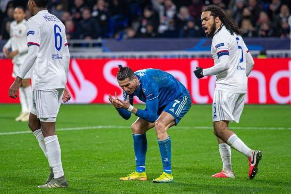 Cristiano Ronaldo en aquel partido ante Lyon. (Foto: Getty)