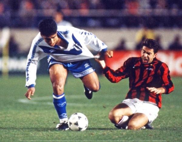Asad en el partido ante Milan.