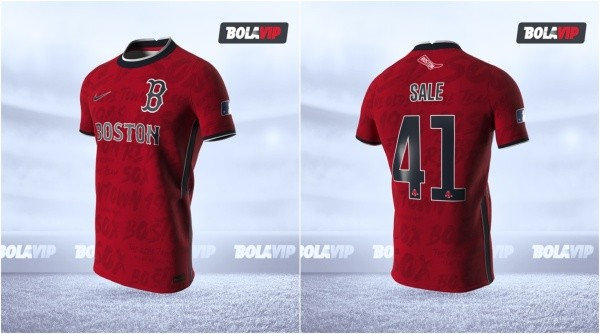 Jersey Boston Red Sox modo fútbol