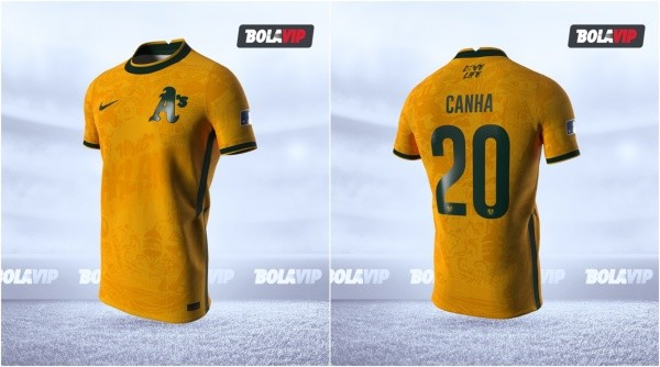 Jersey Oakland Athletics modo fútbol