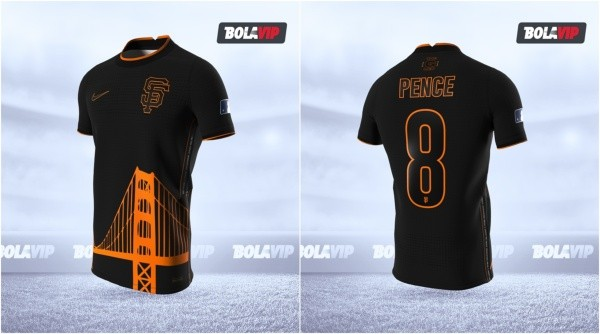 Jersey San Francisco Giants modo fútbol