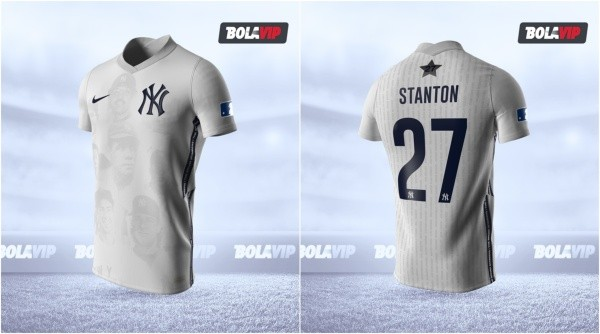 Jersey New York Yankees modo fútbol