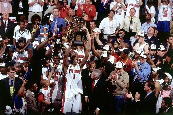 Detroit Pistons: tres títulos 1989, 1990 y 2004 (Getty Images)