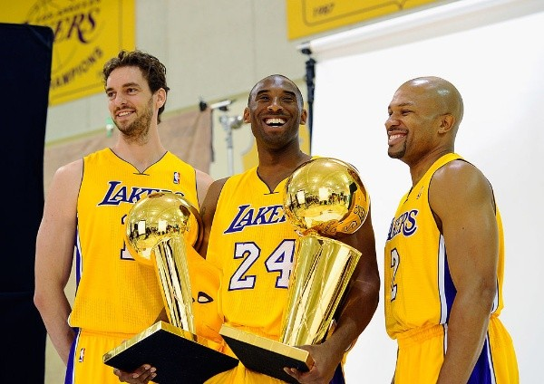 Los Angeles Lakers (antes Minneapolis): diecisiete títulos 1949, 1950, 1952, 1953, 1954, 1972, 1980, 1982, 1985, 1987, 1988, 2000, 2001, 2002, 2009, 2010 y 2020 (Getty Images)