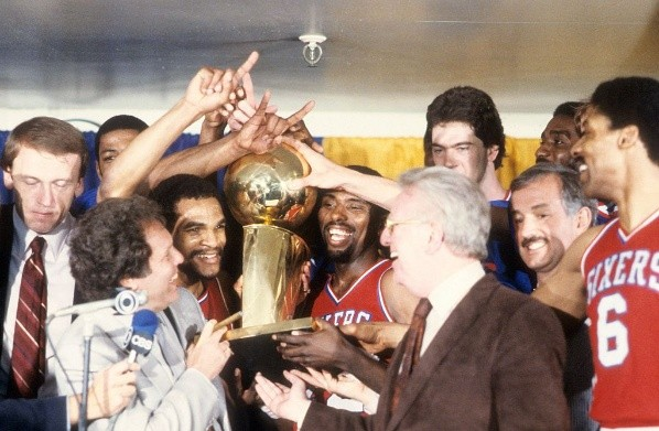 Philadelphia 76ers (antes Syracuse Nationals): tres títulos 1955, 1967 y 1983 (Getty Images)